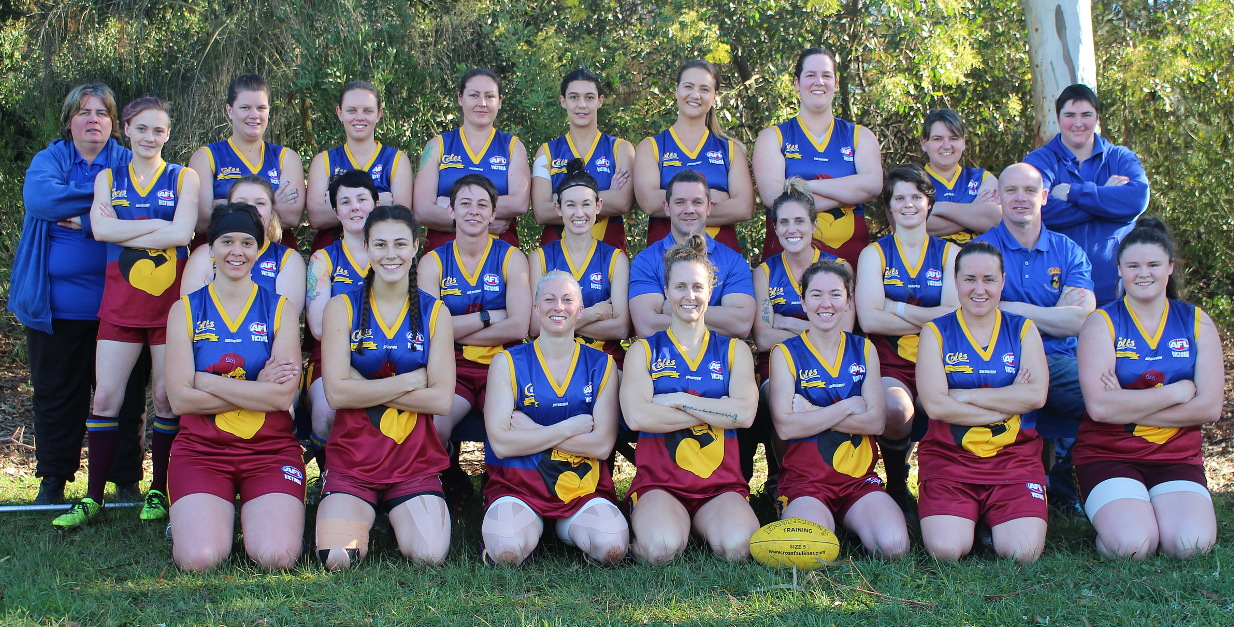 The 2016 Warragul Colts women's team. Image supplied by the team.